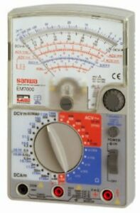 Sanwa Em7000 Analog Multimeter Fet Testergenuine Japan Import