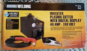 Chicago Electric 240 Volt Plasma Cutter With Digital Display 62204 Brand New