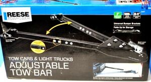 Reese Towpower Adjustable Tow Bar Solid Rail 5 000 lb Capacity 74344