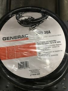 Generac Generator 20ft Extention Power Cord 30a With 4 120v Outlets New