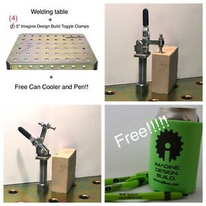 Welding Table Top Package Includes 4 5 Toggle Clamps