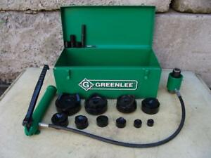 Greenlee 7310 Hydraulic Knockout Punch And Die Set 1 2 To 4 5 21 8