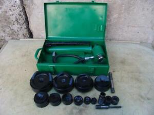 Greenlee 7310 Hydraulic Knockout Punch And Die Set 1 2 To 4 2