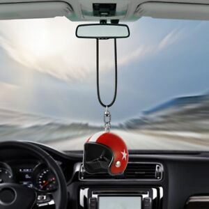 Car Hanging Helmet Cute Luxury Rearview Mirror Interior Automobile Decoration