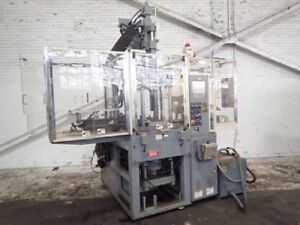 Nissei Th40 Vertical Injection Molding Machine 40 Us Ton Yr 1999 8070