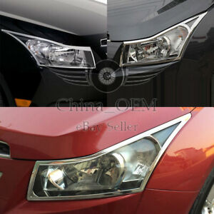 For 2009 2010 2011 2012 2013 2014 Chevrolet Cruze Chrome Headlight Covers