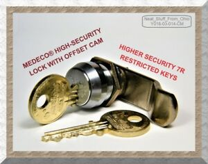 Medeco Lock High security Offset Cam Lock With Two Restricted Keys