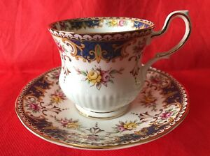 Queens Rosina Tea Cup And Saucer Floral Rose Kenilworth Pattern Teacup