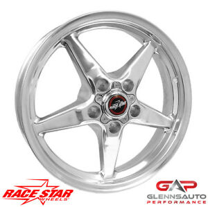 Race Star 17x4 5 92 745142dp 1979 2015 Mustang 5 Lug 92 Drag Star Polished
