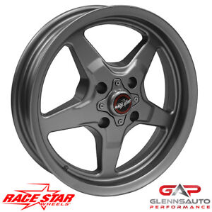 Race Star 15x3 75 91 537021g For 1979 1993 Mustang 4 Lug 91 Drag Star Gray
