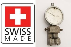 Tesa Dial Test Indicator Comparator Stand Compac Geneve 0 01 10mm Swiss Made