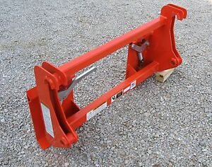 Kubota La1251 la1301 la1601 Kubota Quik Attach To Skidsteer Quick Attach Adapter
