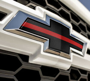 2016 2018 Printed Chevrolet Silverado 1500 Thin Red Line Front Grille Emblem