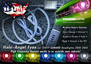Chevy Camaro Multicolor Led Halo Angel Eyes Rings Kit And Rf Remote Buy It