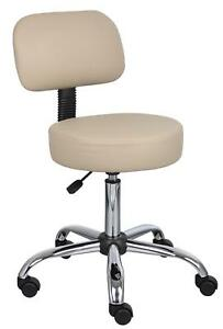 Boss Office Products B245 bg Be Well Medical Spa Stool With Back In Beige