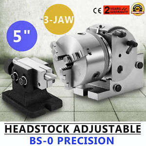 Bs 0 Precision Dividing Head 3jaw 5 Chuck Tailstock Dividing Plate Cnc Mill