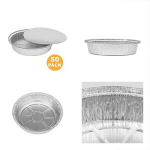 Round Disposable Cookware 9 Inch Aluminum Foil Pan Take Out Food Containers With