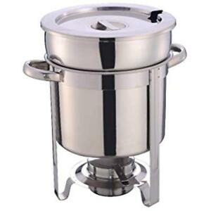 11 Food Warmers Qt Soup Chafer Stantion With Water Pan Contemporary Marmite