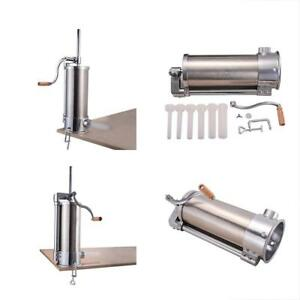 Goplus Sausage Stuffers Stainless Steel Vertical Maker Meat Filler Commercial