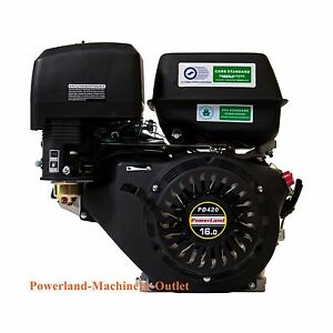 Powerland Pd420 Recoil Start 16hp Gas Engine horizontal Shaft