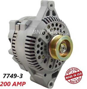 200 Amp 7749 3 Alternator Ford E F Series High Output Performance New Hd Usa