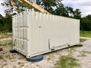 Shipping Container 20 Foot Conex Tool Storage Work Shop Electrical Lights