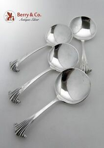 Onslow Georgian Scroll 4 Candy Or Nut Spoons A Stone Billings 1931 1937