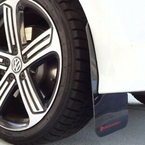 Rally Armor 2015 2016 Vw Golf R Ur Black Mud Flap W Red Logo