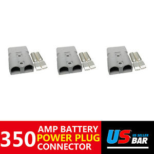350a 3pcs Plug Grey Power Electric Distribut Fast Disconnector Battery Charger