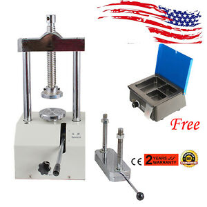 Us Dental Lab Hydraulic Press Flask Presser High Pressure analog Wax Heater Pot