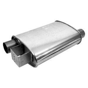 For Ford Mustang 86 93 Exhaust Muffler Ultra Flo Polished Stainless Steel