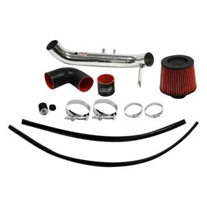 Dc Sports Aluminum Powder Coated Silver Cold Air Intake System W Red Filter