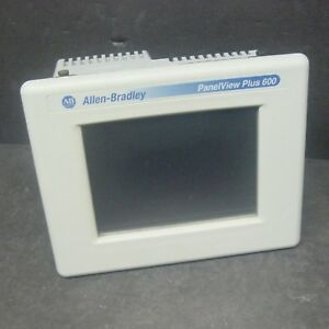 Allen Bradley 2711p t6c20d Ser C Panelview Plus 600 Touchscreen Color Rs232 Hmi