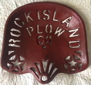 Antique Cast Iron Rock Island Plow Co Tractor Seat Excellent Condition