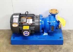 New Goulds Pumps 3298 Size 1x1 50 5 Tefzel Baldor Vcp3660t 4 Industrial Motor