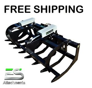 Es 78 Hd Grapple New Skid Steer Quick Attach Brush Grapple Free Shipping