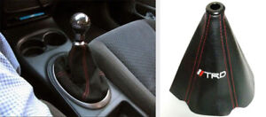 New Retainer Leather Gear Shift Shifter Boot Cover Black Pu Universal