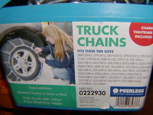 Truck suv Snow Tire Chains Peerless 0222930 275 50 17 275 40 17 275 40 20