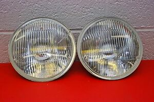 H4 Headlights Pair 7 Round 180mm Sealed Beam Conversion Dot Vintage Classic
