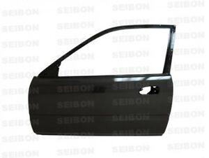 Seibon 99 00 Honda Civic 2d 3d Carbon Fiber Doors Ek set Of 2