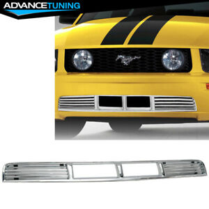 Fits 05 09 Ford Pony Pkg Mustang V6 Lower Grille Hood Bumper Grill Chrome New