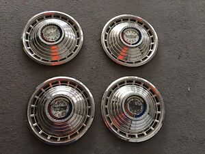 1963 Ford Galaxie 500 Hubcaps Wheel Covers Original Set Of 4 Oem 1963 1969 Fair
