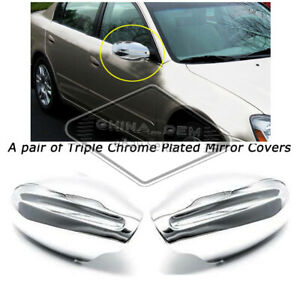 Fit 2002 2003 2004 2005 2006 Nissan Altima Chrome Mirror Covers