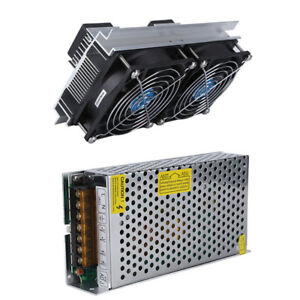 Dual Core Refrigeration Thermoelectric Peltier Air Cooling Cooler W power Supply
