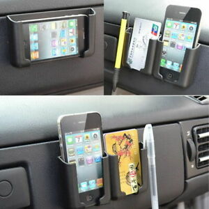 1x Car Auto Multifunction Storage Box Cell Phone Holder Charger Pocket Organizer