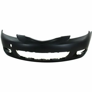 Bumper Cover For 2004 2006 Mazda 3 Hatchback Front Primed With Fog Light Holes