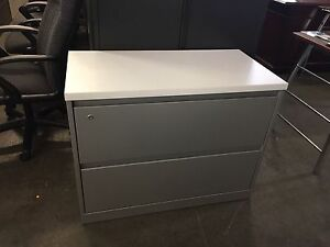 2dr 36 w X 18 d X 28 h Lateral File Cabinet W Laminate Top By Steelcase