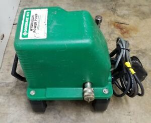 Greenlee 975 Hydraulic Power Pump 10000psi Pump With Foot Pedal