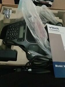 Vtech Vcs754 Erisstation Conference Phone With 4 Wireless Microphones