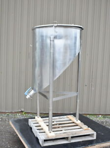 120 Gallon Cone Bottom Stainless Steel Tank Sanitary